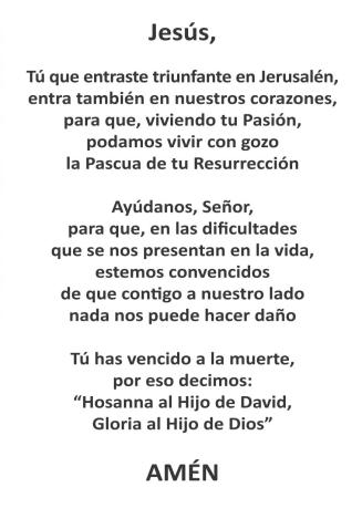 2017 - Oración a la Borriquita
