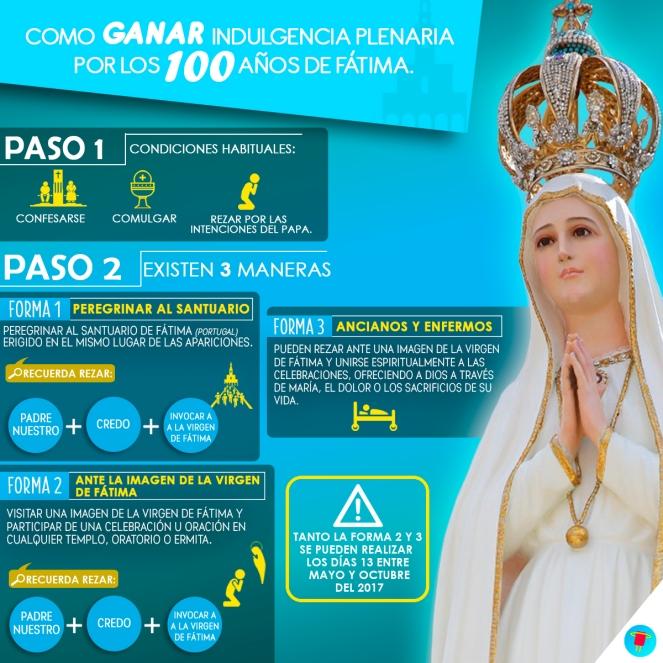 2017 - Indulgencia Plenaria Fátima