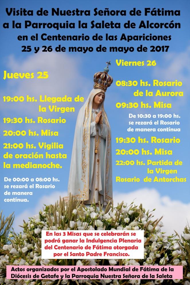 2017 - Visita Virgen de Fátima - volante