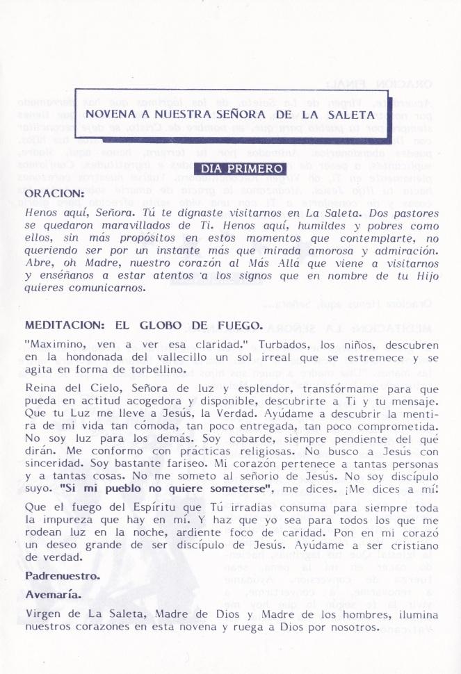 01 - Novena Virgen Saleta