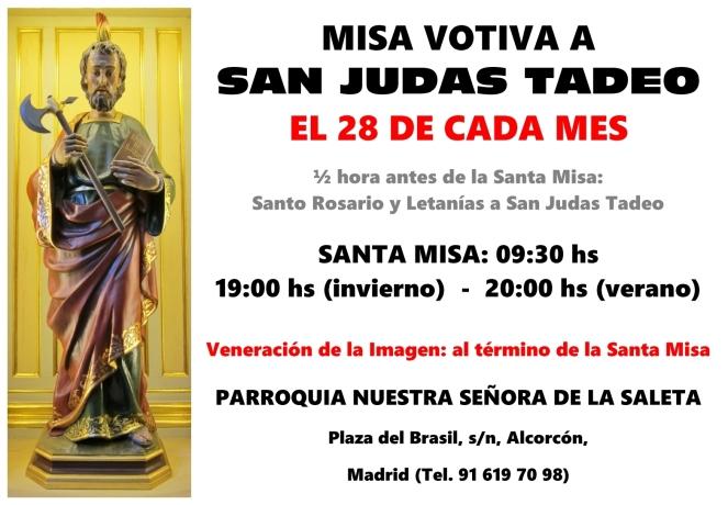 2017 - Cultos a San Judas Tadeo