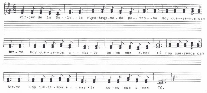 Himno Saleta Partitura