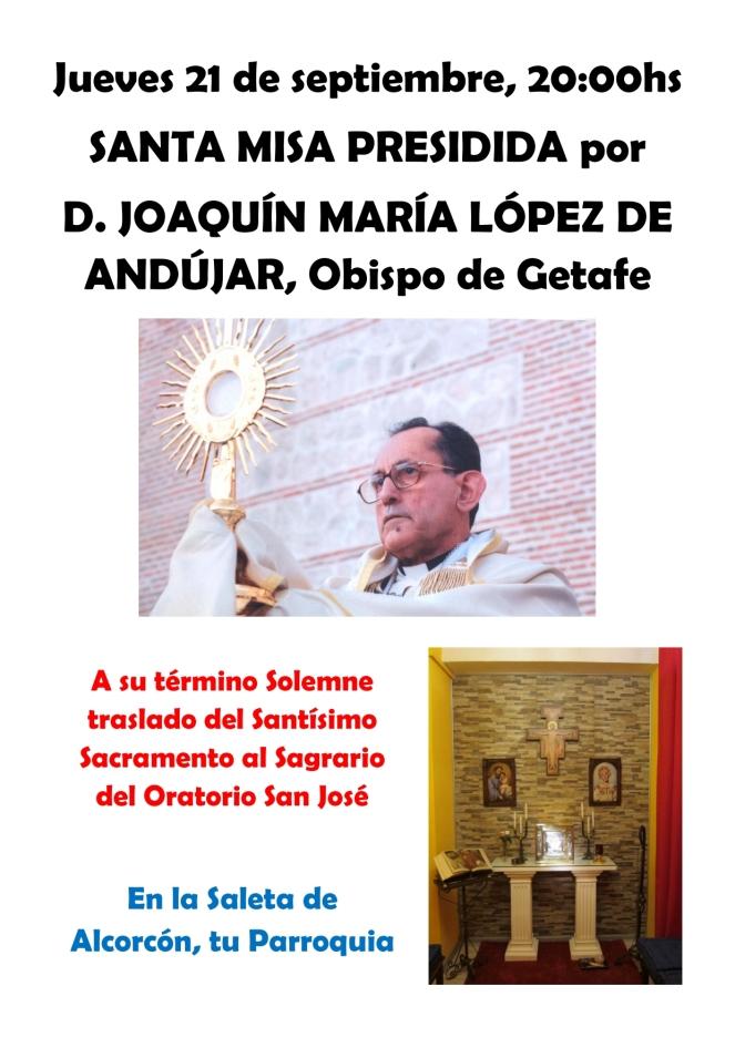 2017 09 21 - Cartel Misa Obispo