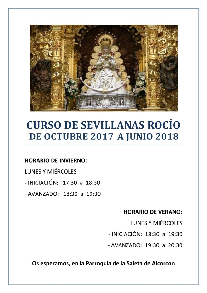 2017 - Cartel Curso de Sevillanas