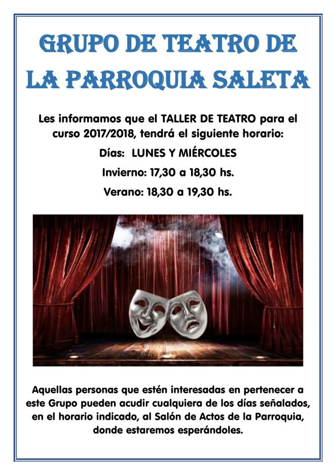 2017 - Cartel Curso de Teatro