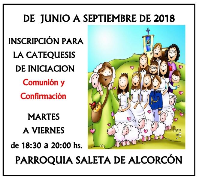 2018 - Inscripción Catequesis