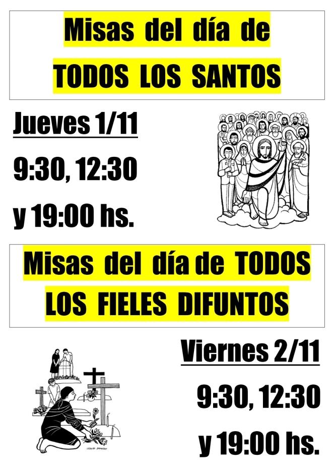 2018 - Misas de Santos y Difuntos