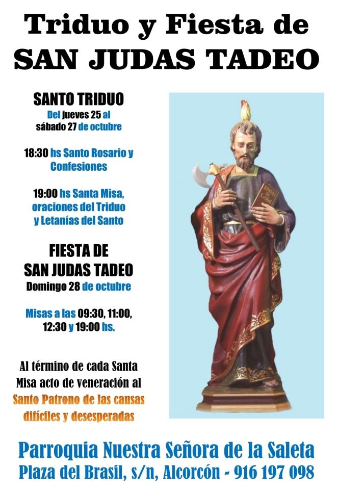 2018 - Triduo y Fiesta de San Judas Tadeo