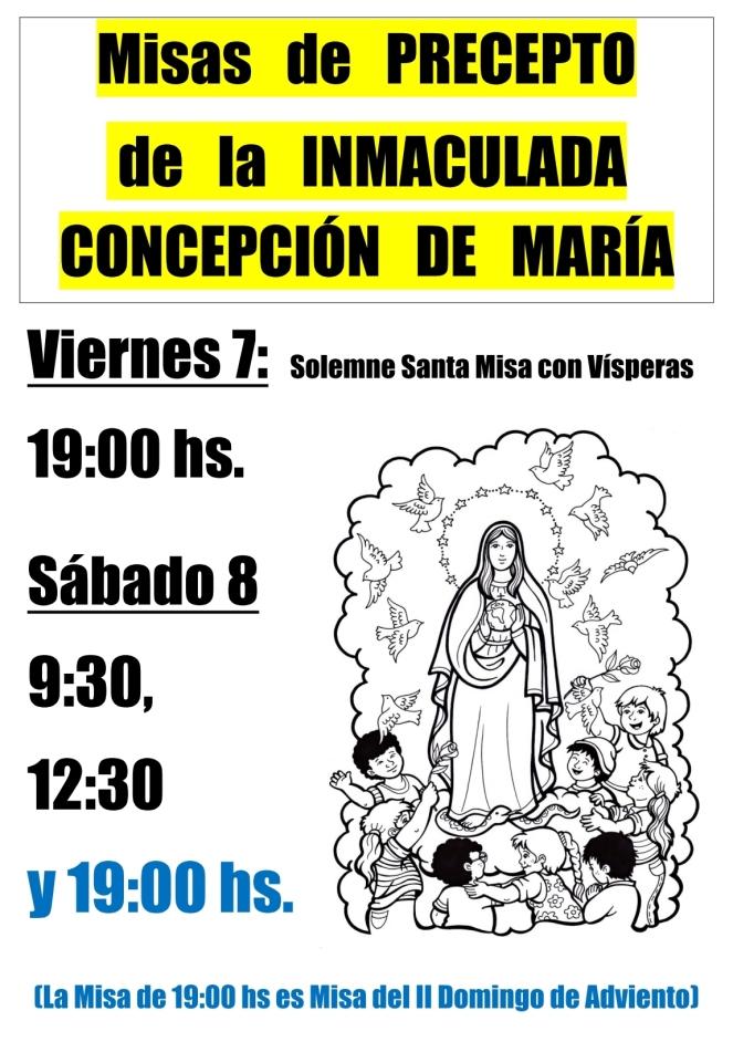 2018 - Misas Inmaculada Concepción