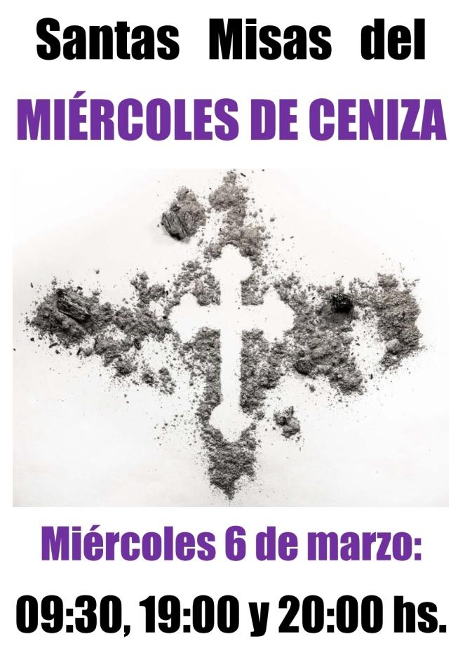 2019 - Misas del Miércoles de Ceniza