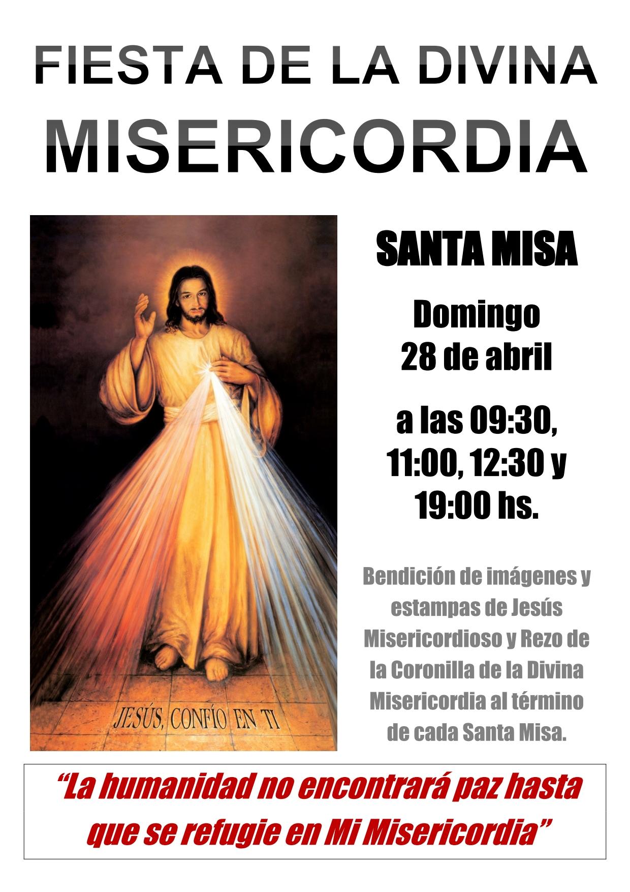 2019 04 - Cartel Fiesta Divina Misericordia