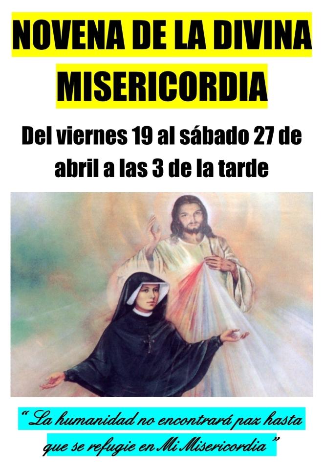 2019 04 - Cartel Novena Divina Misericordia