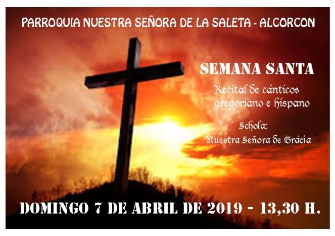 2019 - Cartel Recital de Semana Santa
