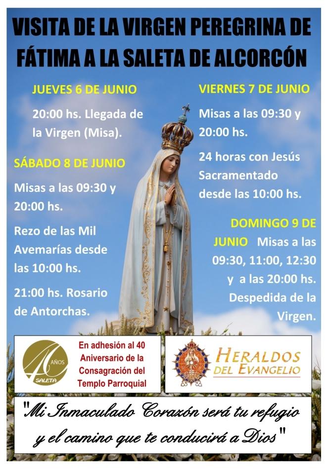 2019 06 - Visita Virgen de Fátima