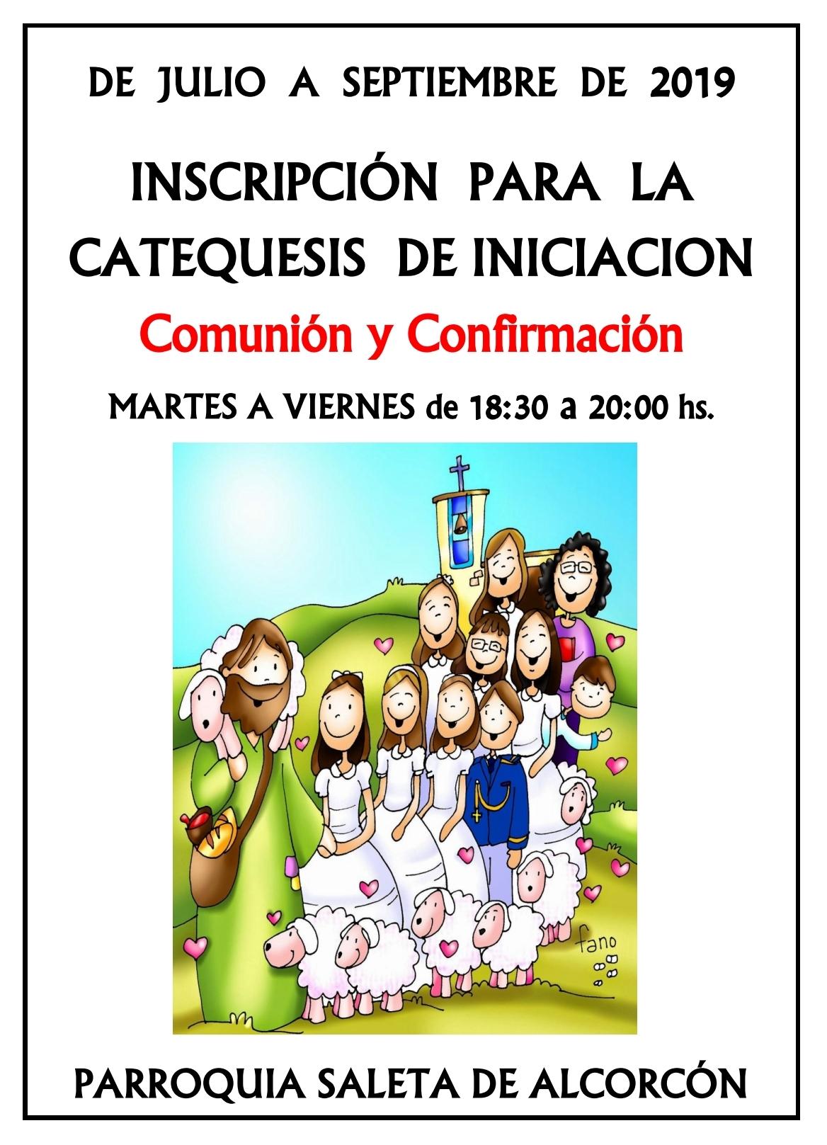 2019-2020 - Cartel inscripción catequesis