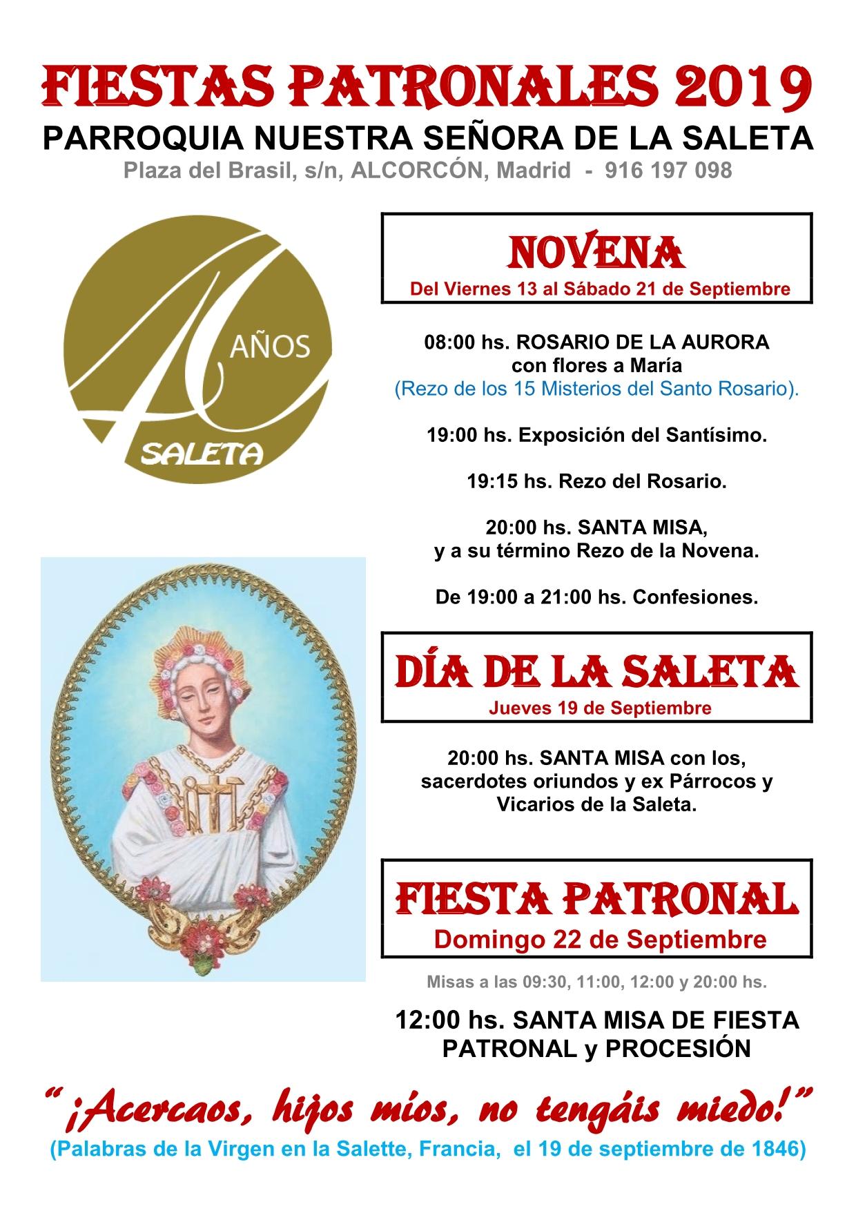 2019 - Fiestas Patronales